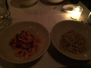 Poorly lit Orecchiette and Cacio e Pepe at Lupa