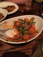 (partially eaten, sorry) Spicy Sausage and Rice Cakes at Ssam Bar